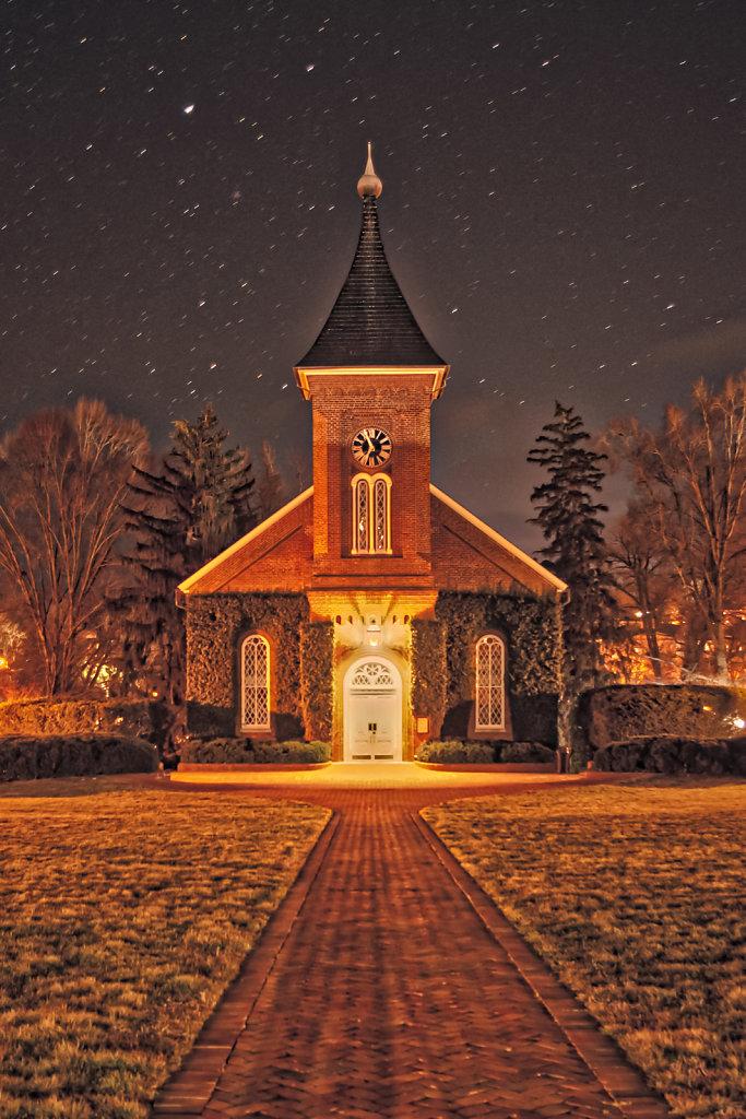 Lee Chapel by Night
