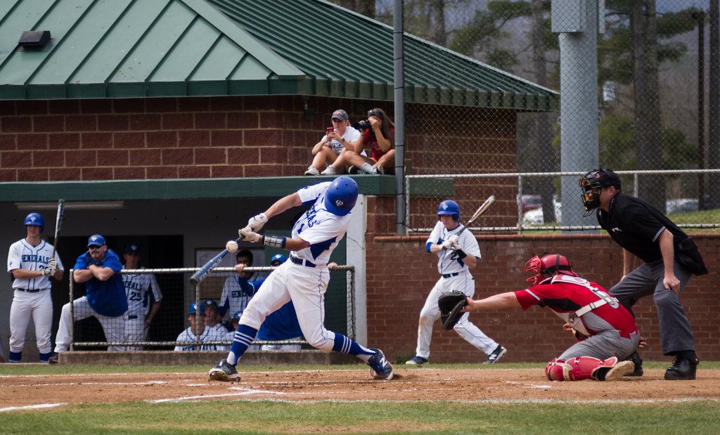 Ryan Monson at bat, Cory Paton on deck