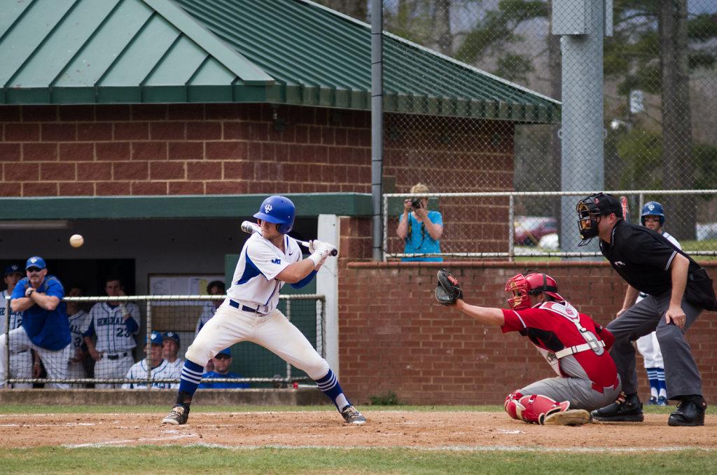 Kyle Ruedisili at bat