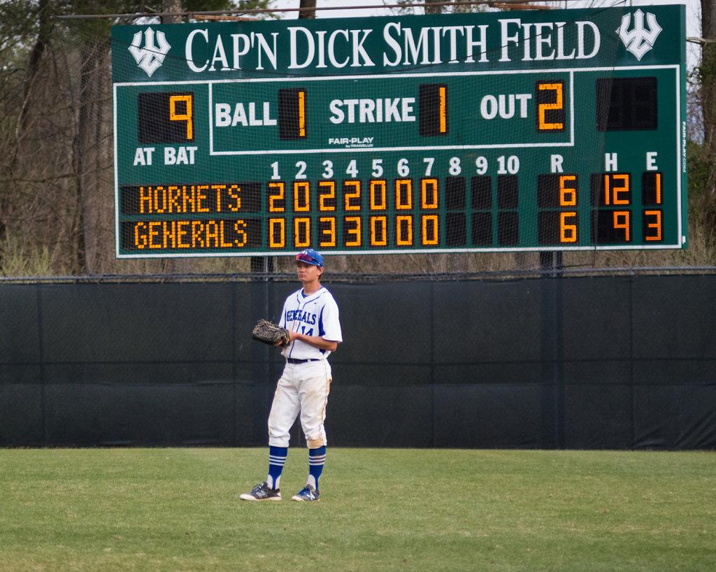 Ryan Monson in right field