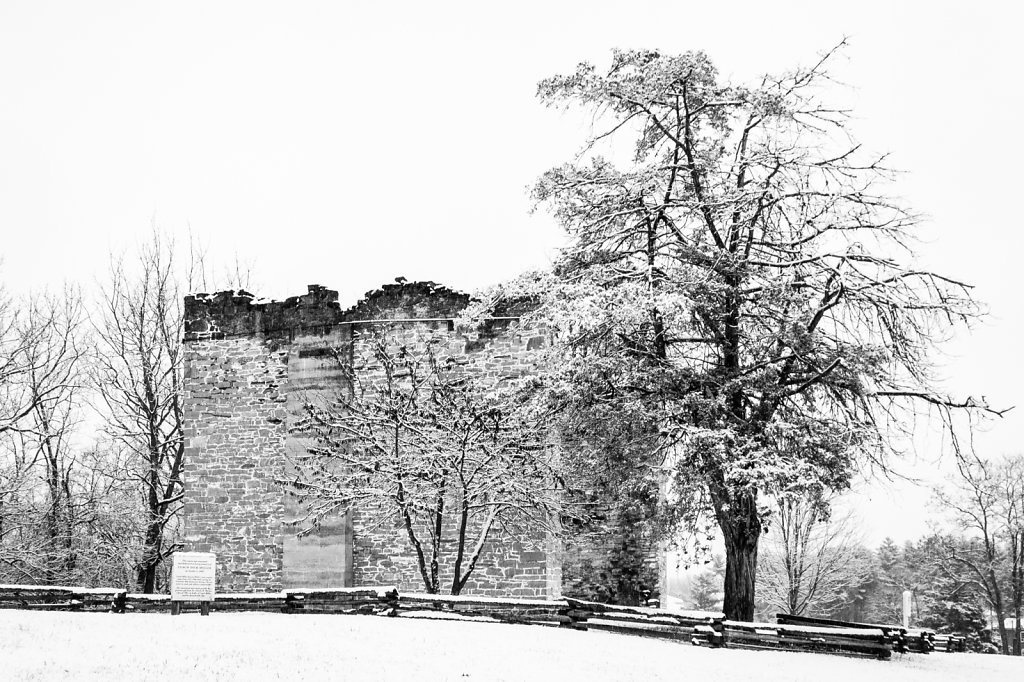 Liberty Hall Ruins with Snow #2