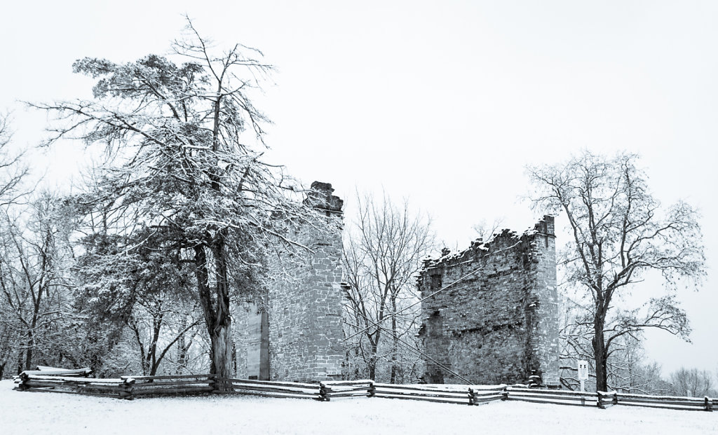 Liberty Hall Ruins with Snow #1