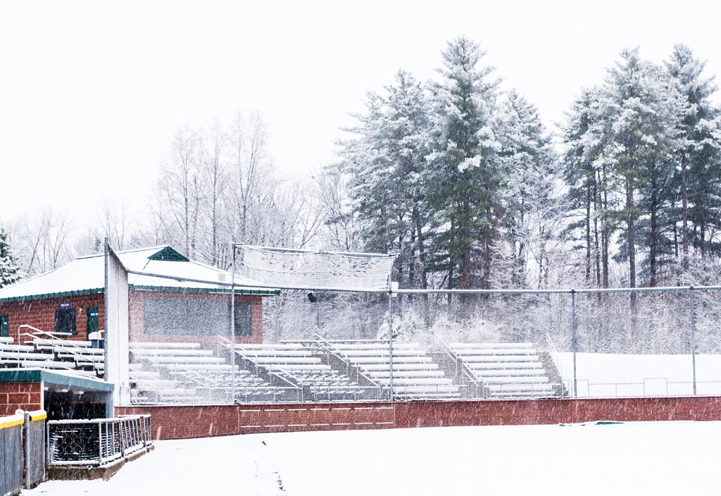Bleachers in the Snow