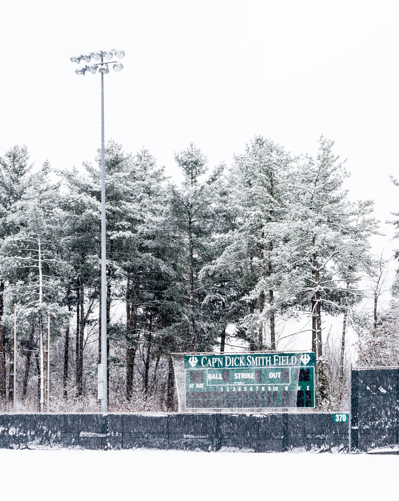 Snowy Day at Cap'n Dick Smith Field